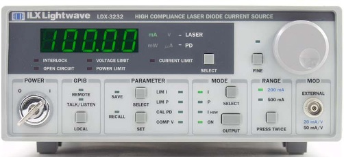 ILX LIGHTWAVE LDX3232 HIGH COMPLIANCE CURRENT SOURCE